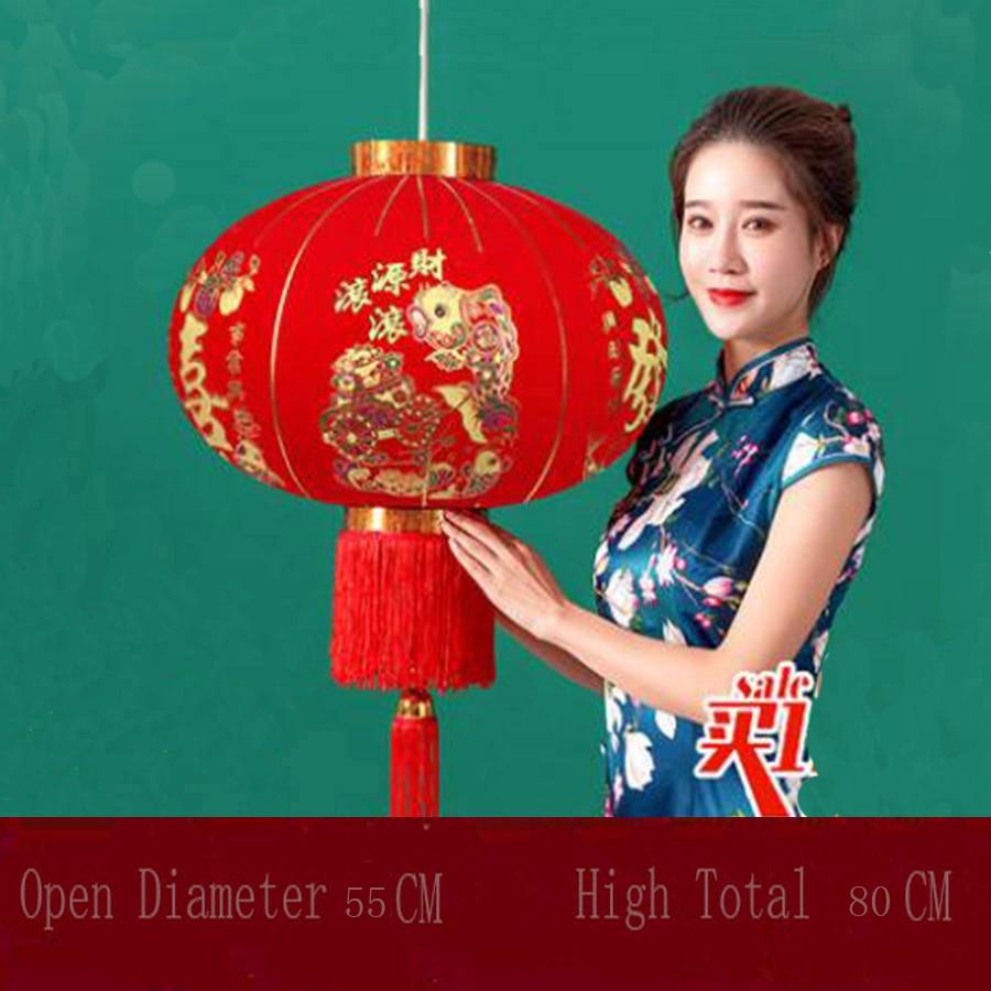 Lanternas vermelhas são características chinesas penduradas durante