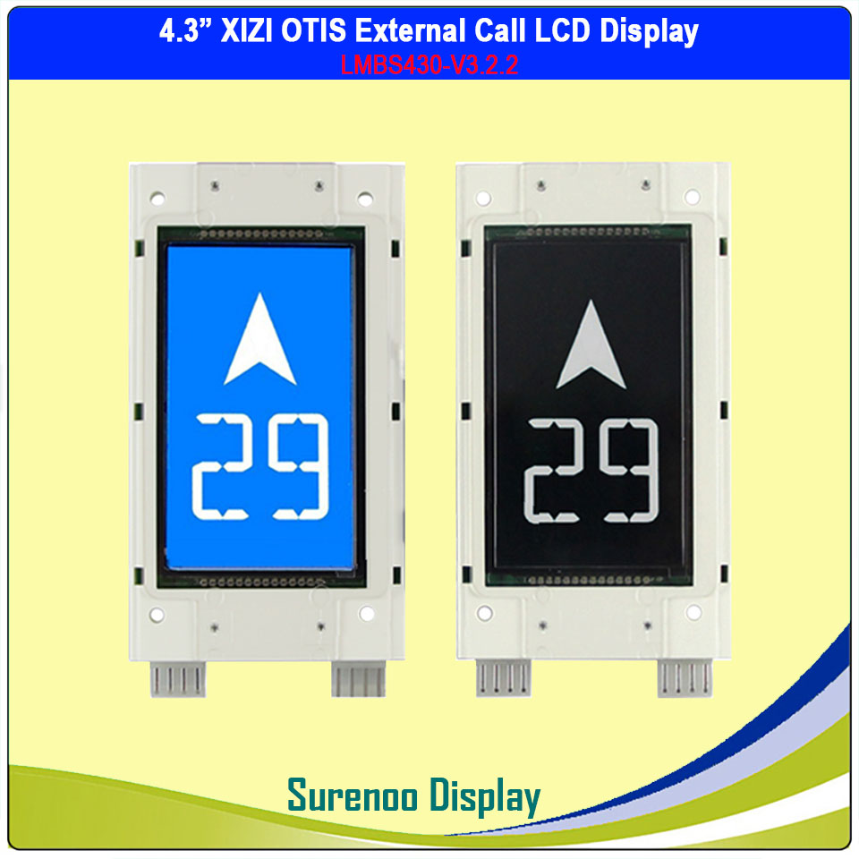 For Original XIZI OTIS External Call LCD Display Panel Module 4.3 Inch LCD LMBS430-V3.2.2 Elevator Accessories image