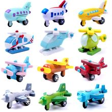 Wooden 12 mini Super wing deformation mini jet abdominal muscle  toy character Super wing transformation toy children's gift