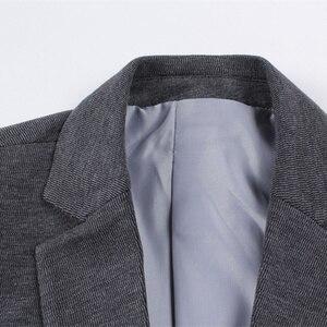 Image 5 - FGKKS moda marka mężczyźni marynarka płaszcz w jednolitym kolorze jesień strój męski Slim Fit smoking pana młodego bal męski biznesowa marynarka