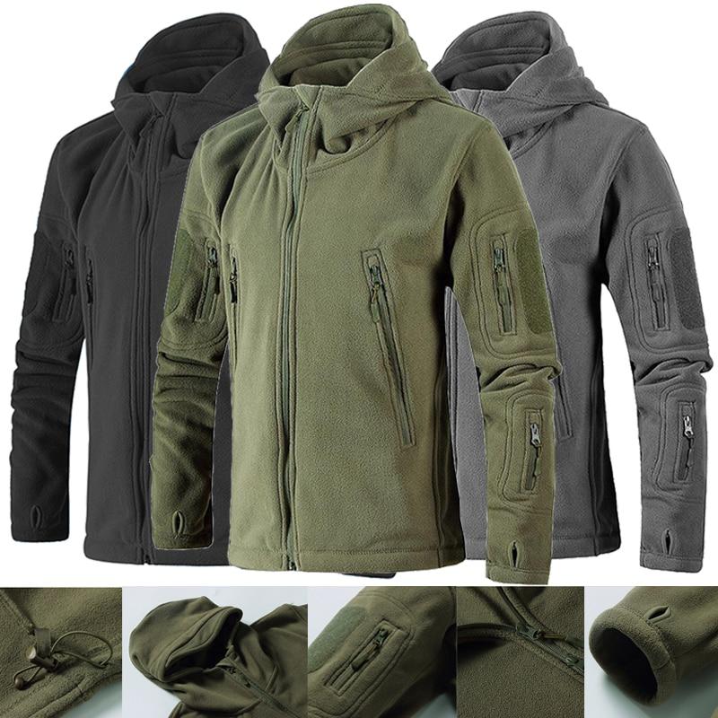 Neutral Outdoor Thicken Warm Coat Fleece Jacket Hiking Mountaineering Jacket Soft Shell Tactical Military Jacket Men Windbreaker