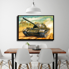 A Collection Of European And American Soviet Tanks From World War II Picture Canvas Painting
