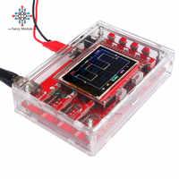"Diymore osciloscopio Digital completamente ensamblado 2,4 ""TFT pantalla LCD 12Bit con sonda de pinza tipo caimán funda acrílica transparente para DSO138"