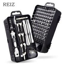 REIZ – jeu de tournevis de précision 135 en 1, embouts de tournevis hexagonaux magnétiques, multi-outils, Kit d'outils manuels pour la réparation d'ordinateurs et de téléphones