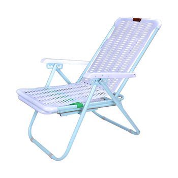Summer Recliner Folding Afternoon Rest Chair Plastic Beach Chair Bamboo Chair Office Leisure Simple Portable Balcony Chai