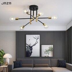 JMZM Modern Nordic Chandelier LED Lighting 4/6/8 Hanging Lights Indoor Dining Light Fixtures Bedroom Living Room Pendant Lamp