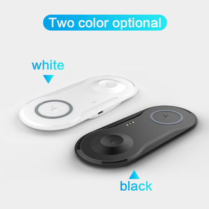 Image 5 - 2 in 1 Wirless Snel Opladen Pad Voor Samsung S9 S8 S10 Plus Note 7 8 iPhone 11 X Mobiele qi Draadloze Oplader Voor Iwatch 4 3 2 1