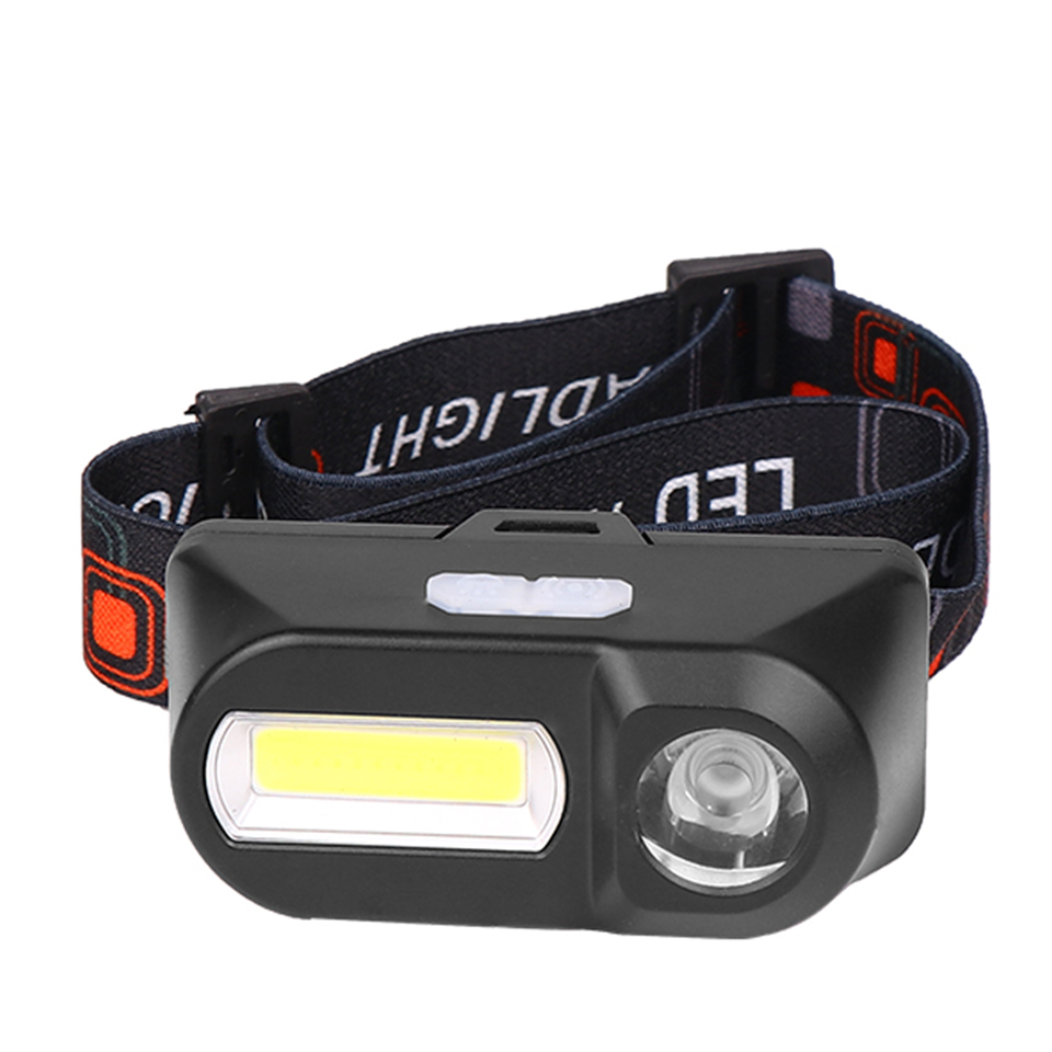 Z90 3800LM Headlamp Camping Flashlight Head Light Torch Lamp By 1* 18650 Battery LED COB Headlamp For Hunting