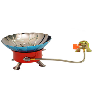Outdoor Camping Stove Equipment Round Gas Cooker Portable Folding Electric Stove Hiking Picnic Mini Windproof Cooking Stoves