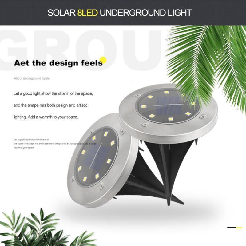 8/20LED Solar Power Ground Lights Floor Decking Patio Outdoor Garden Lawn Lamp Solar LEDs Garden Light Waterproof Solar Lights