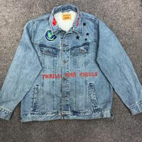 19ss Travis Scott Astroworld Jacket graffiti 1:1 high quality Jean Jackets Embroidery Denim Couples hip hop Astroworld Coats Men