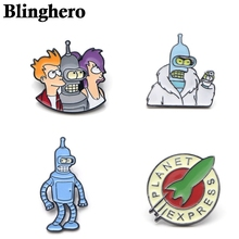 CA367 Cartoon Futurama Zinc Alloy Pins Badge Shirt Bag Clothes Hat Backpack Brooches Badges Medals Decorations 1PCS