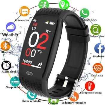 Fitness Tracker Smart Bracelet Blood Pressure Pedometer Fitness Bracelet Heart Rate Monitor Waterproof Bluetooth Watch Men Women