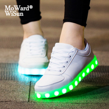 Luminous-Sneakers Led-Slippers Girls Shoes Lighted-Up-Sole Kids Boys Children Usb-Charging