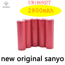 GZSM 18650 battery for Sanyo UR18650ZT rechargeable 2800mAh 3.7V 6A For replacement