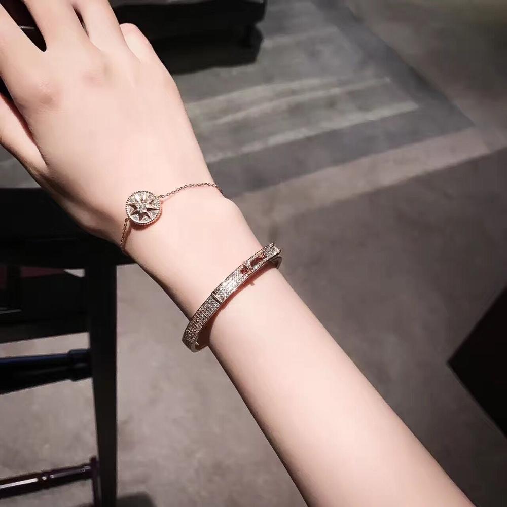 Shidiya women Bracelet 925 silver button enamel bracelet fashion women's jewelry wrap Bracelet luxury heart gifts for women tiff
