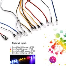 Hot! Multi-function Ultra Bright LED Lamp Light System Kit for 1/10 1/8 RC Car HSP Traxxas TAMIYA CC01 Axial SCX10 D90 RC Parts
