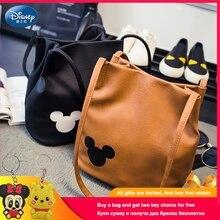 Disney Mickey Handbags PU Leather Organizer Small Cute Bucket Bag Messenger Bags Women Feminina Minnie Shoulder Bolsos