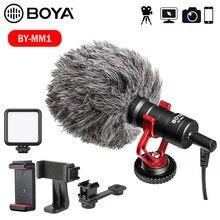 BOYA – Microphone d'enregistrement vidéo pour Smartphone DSLR, Osmo Pocket, Youtube, vlog, pour téléphone portable iPhone/Android