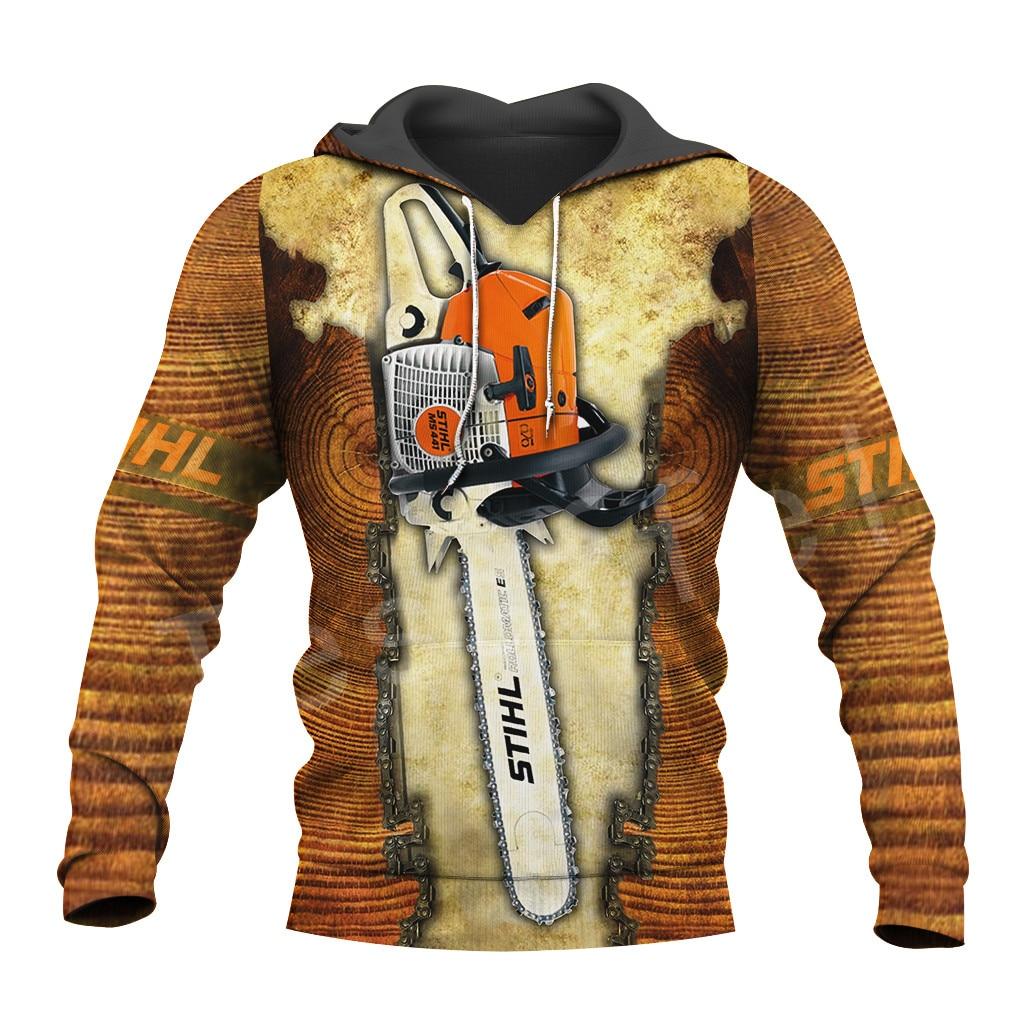 Tessffel Worker Instrument Tool Chainsaw Harajuku Tracksuit NewFashion 3DPrint Zipper/Hoodies/Sweatshirt/Jacket/Men/Women S-9