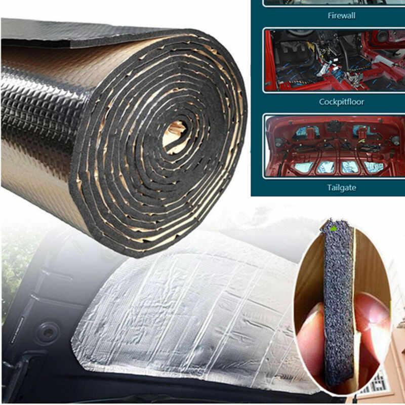 Poziom hałasu izolacja akustyczna samochodu 25cm * 50cm z pianki gumowej + folia aluminiowa srebrny wymiana akcesoria narzędzie Pad