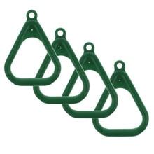 4 stücke Kinder Trapeze Bar Ringe, Schaukel Ring Spielplatz Schaukel Set Zubehör, kinder Outdoor Gym Fitness Ausrüstung-Dunkelgrün