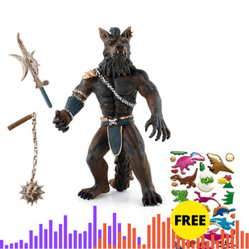 Werewolf Model Action Figure Classic Toys For Boys Wildlife Decoration Model Simulation Werewolf Warrior Model 2 Weapon Choose фото