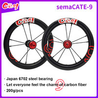 Carbon wheels semaCATE 9 12inch 203 carbon wheelset for children balance bicycle/Stirders/push bike super light carbon rims best