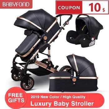 Navio Normal! 3 em 1 carrinhos de bebê e cesta de dormir recém-nascido 2 em 1 carrinho de bebê europa bebê um pacote com assento de carro