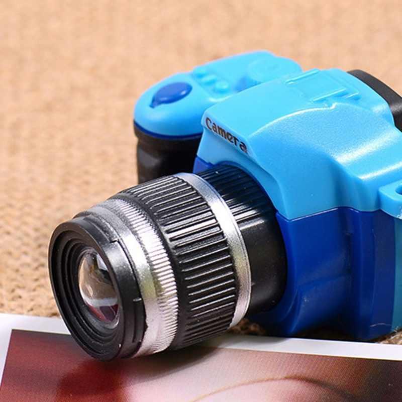 Kamera Auto Schlüssel Ketten Kinder Digital SLR Kamera Spielzeug LED Luminous Ton Glühender Anhänger Schlüsselbund Tasche Zubehör