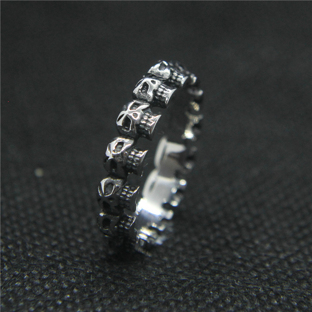 STAINLESS STEEL CLASSIC SKULL RINGS