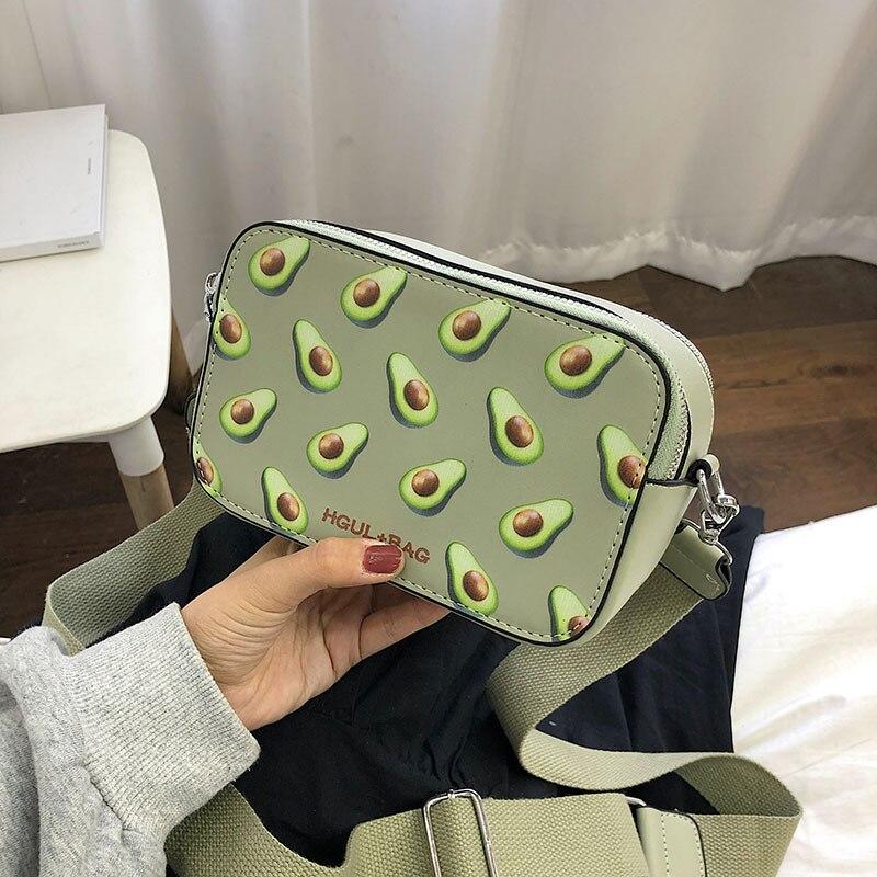 Fruit Printing Ladies Handbag 2019 Small Square Bag Handbag Model Shoulder Bag Girls Messenger Bag Fashion Messenger Bag
