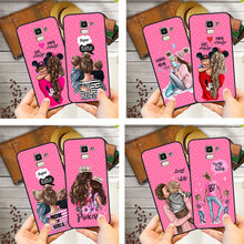 DIY Super Mama Baby Mouse Girl Boy Queen Phone Case For Samsung Galaxy S10 S8 S6 S7 Edge S9 J2 J3 J5 J7 J4 J6 J8 2018 Plus Etui(China)