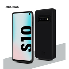 For Samsung Galaxy S10 Battery Charger Case 6000mAh Slim External Battery Portable Charger Protective PowerBank Charging Case