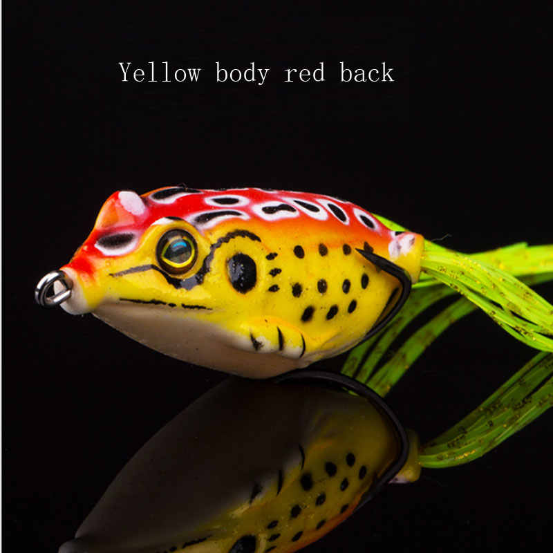 5.5cm Topwater Frog Shape Fishing Lures 13g Whopper Plopper hard crankbait Bass lure fishing Plopper Soft Rotating Tail Swimbait