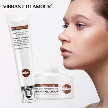 VIBRANT GLAMOUR Crocodile Repair Scar cream Removal Scar Acne Treatment Marks  Deeply repairs for face and  body Skin Care set vibrant glamour crocodile repair face toner scar face serum removal acne scar marks shrink pores brighten skin care 30ml