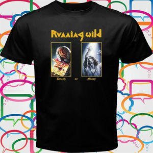 Running Wild Death Or Glory Metal Band Mens Black T Shirt Size S To 3Xl
