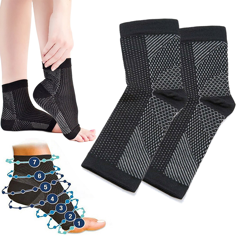 Original Quality Vita Wear Copper Infused Magnetic Foot Support Compression Sock  Relieve Swell  Ankle Guard Socks One Pair