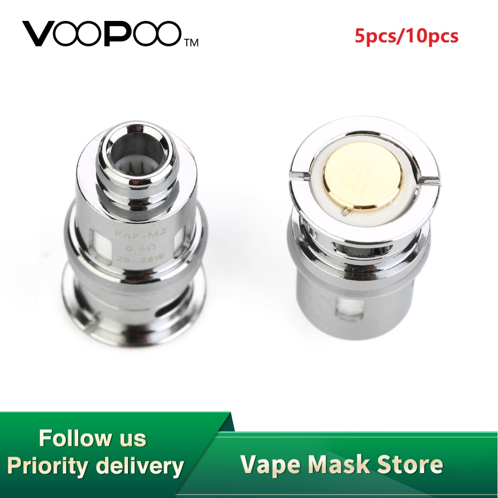5pcs/Pack VOOPOO Drag Baby Coil Pnp-M2 0.6ohm Pnp-R1 1.2ohm Pnp-C1 0.8ohm Fit For Drag Baby Kit Electronic Cigarette Coil Head