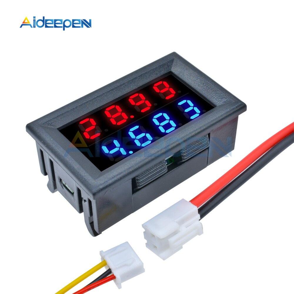 Цифровой измеритель напряжения и тока, постоянный ток 200 в, 100 в, 10 А, тестер, регулируемый амперметр, вольтметр, панель, детектор напряжения, д...