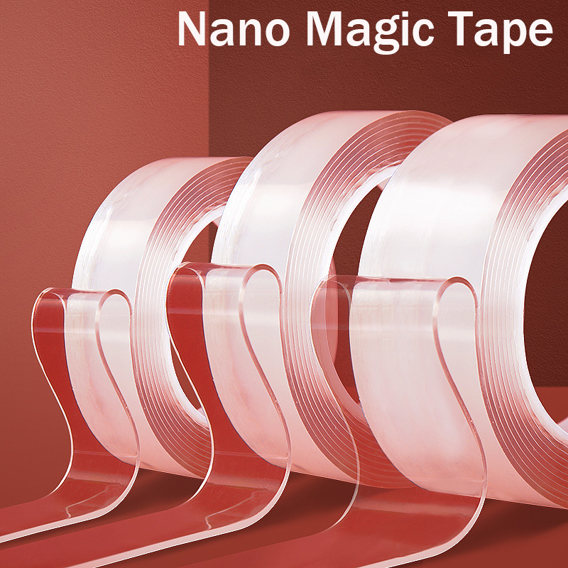 Nano  Tape Universal Double sided Reusable No Trace Strong Transparent Cleanable Waterproof Invisible Tape Thickness 2mm