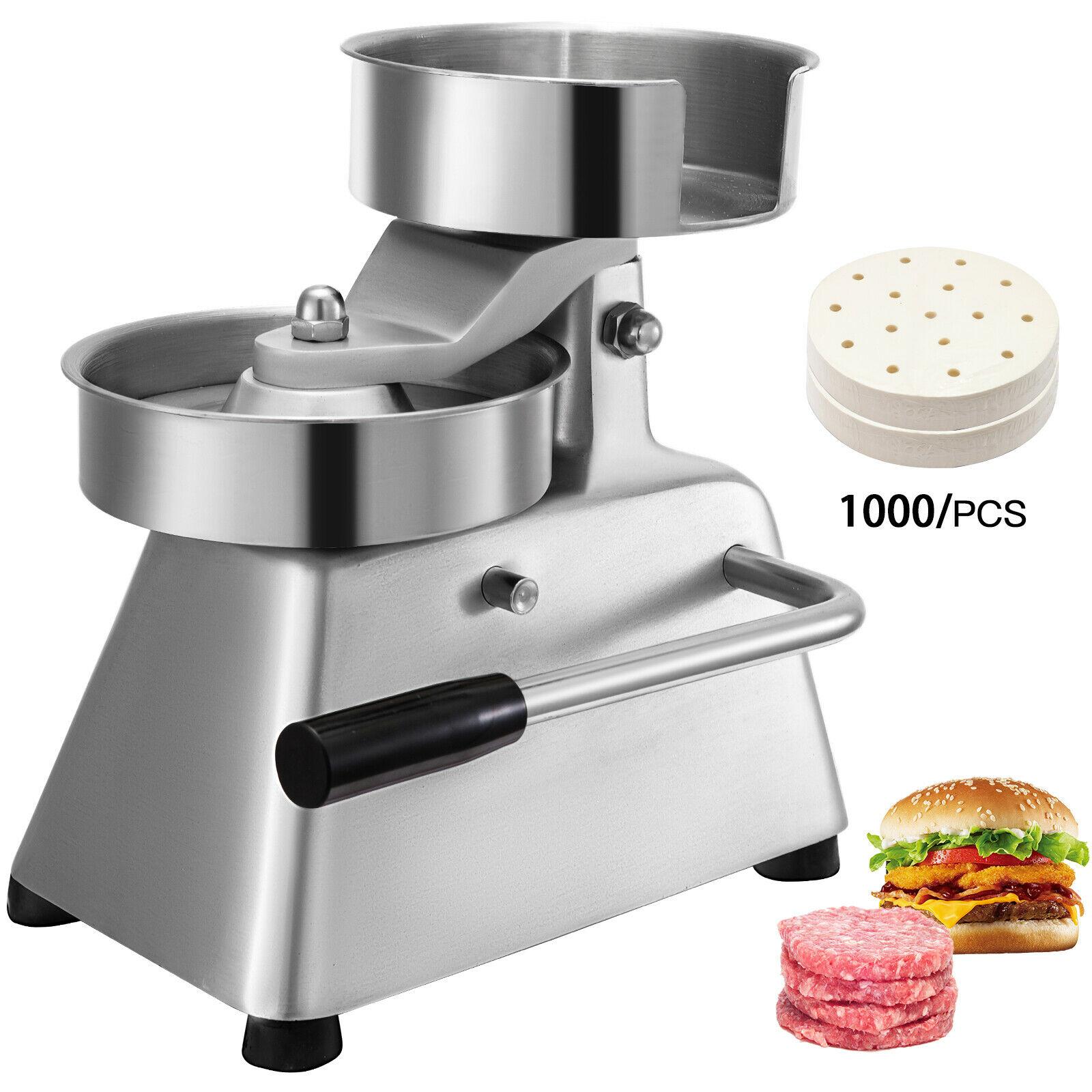 Silver 100mm Manual Hamburger Press Burger Forming Machine Round Meat Shaping Aluminum Machine Forming Burger Patty Makers