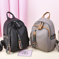 Trend New Ladies Oxford Canvas Fashion Wild Casual Small Black Backpack Female Small Bag Women Multi-function Gray Backpacks