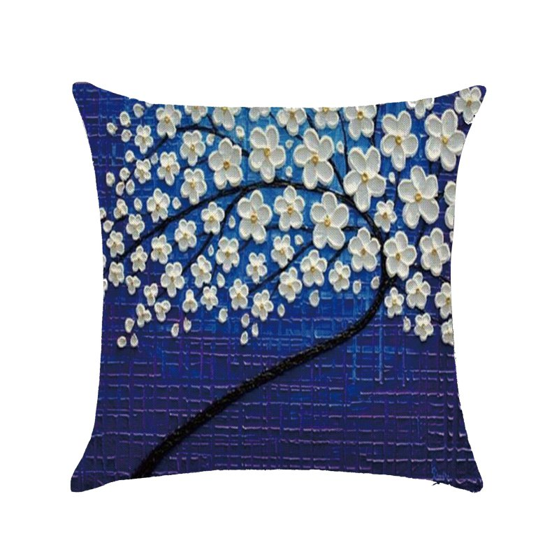 Sofa Waist Cushion Case Square Living Room Decor Throw Pillow Shell