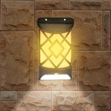 2020 настенный светильник пламя солнечный свет открытый водонепроницаемый 12Leds датчик движения потолочный lamparas Соларес наружных Potentes