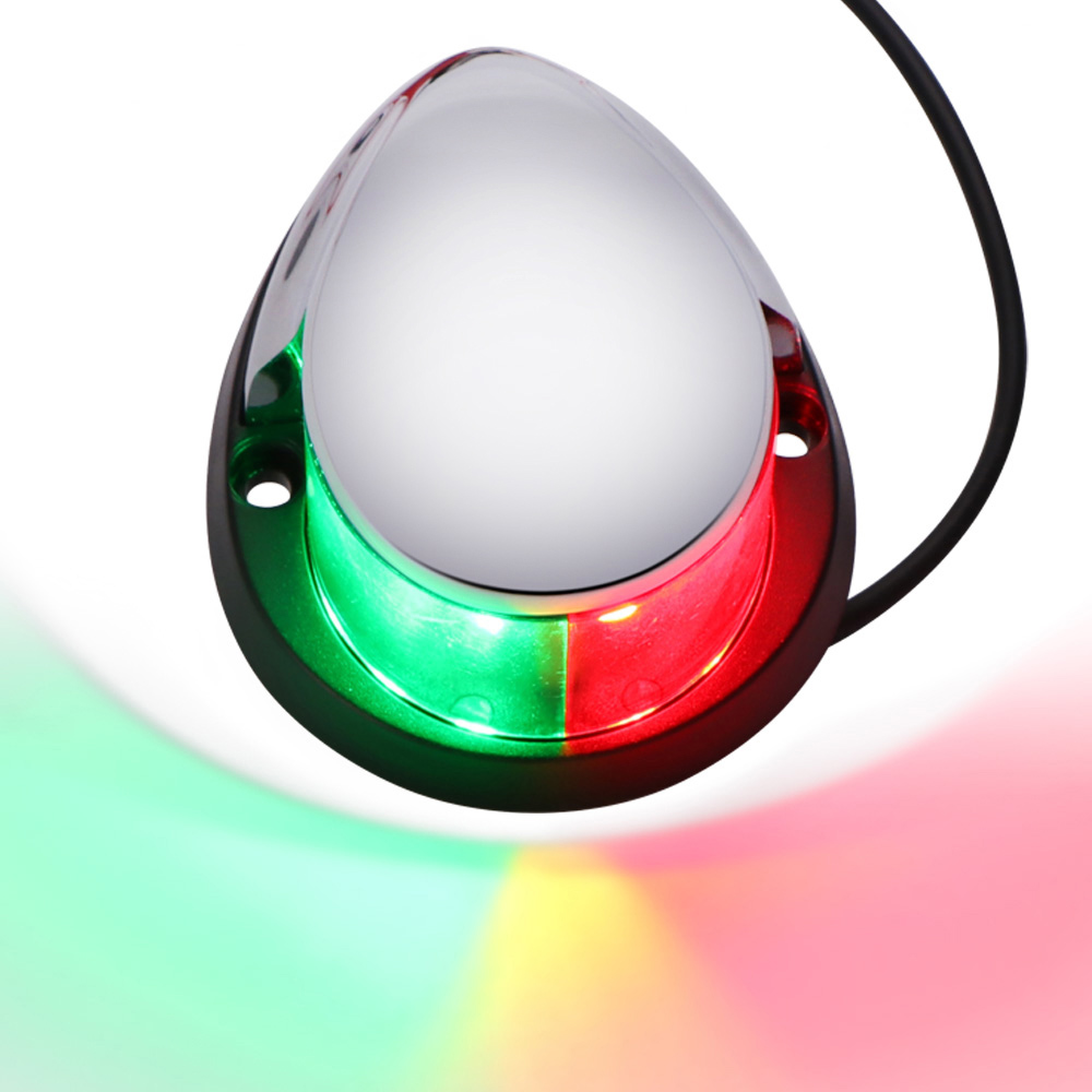 1 шт 12V красный зеленый светодиодный навигационные огни Нержавеющаясталь парусной лампа для Морская Лодка Яхта лодка аксессуар высокое Яр...