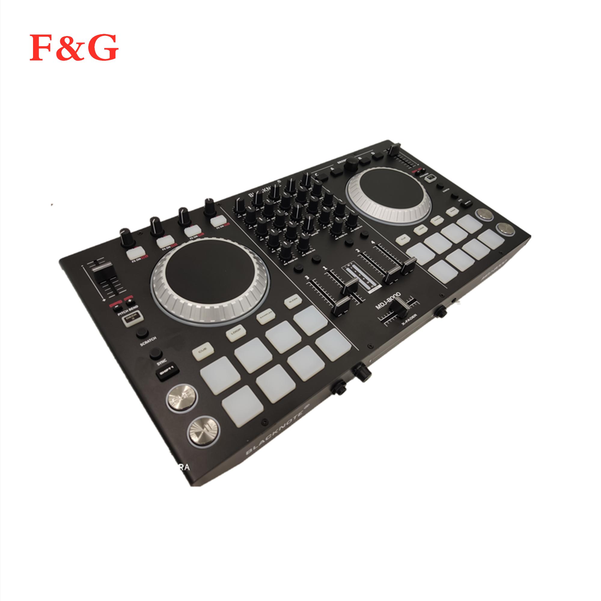 Controlador BLACKNOTE DJ MIDI パラ reproducir reproductores デオーディオデ consola mezcladora デ sonido をメサデ mezclas dj。 DJ Mezc