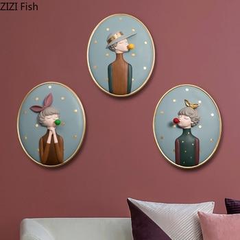 """bubble gum wall"" Οβάλ vintage πίνακες για τον τοίχο"