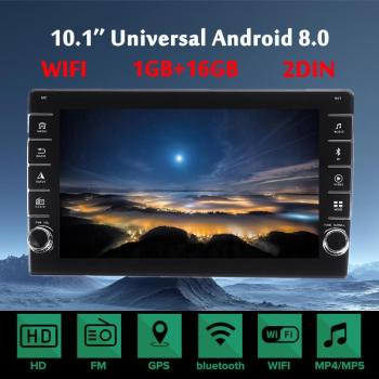 10.1 Inch Android 8.0 Car Stereo Radio 2 Din 1+16G IPS Touch Screen MP4 MP5 Player GPS Navigation WIFI FM Multimedia Player image