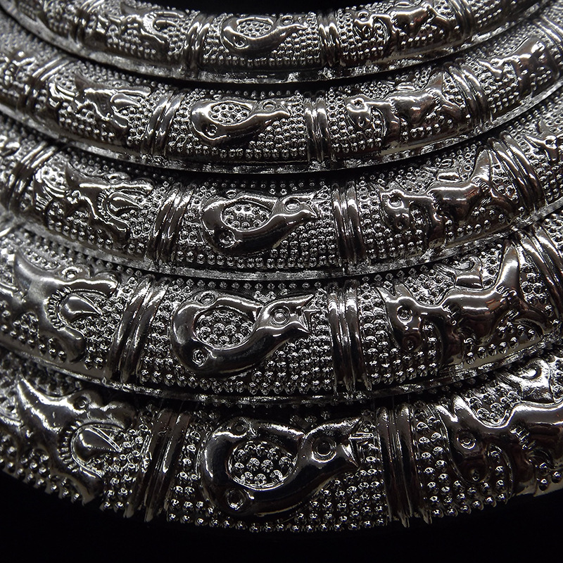 Image 3 - National wind five layer atmosphere female collar necklace 